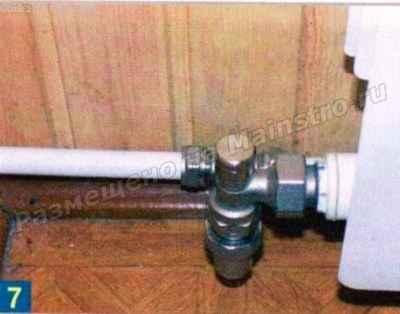 Запорный клапан радиатора