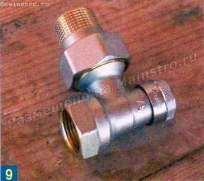 Запорный угловой клапан