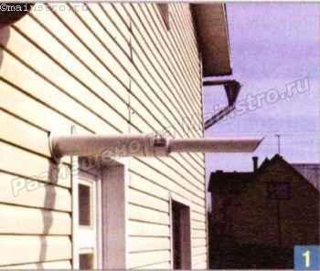 Для специального коаксиального дымохода котла достаточно сделать отверстие в стене