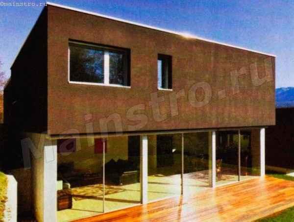Темные цвета подходят для современной архитектуры простых форм