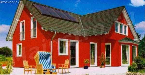 Красный дом выглядат эффектно, но есть опасность того, что яркая краска со временем поблекнет