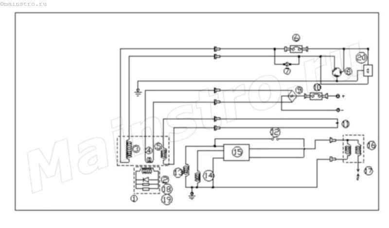Электрическая схема подключения бензогенератора4