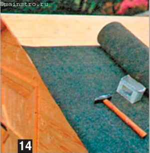 Покрыть сарай рубероидом своими руками 25