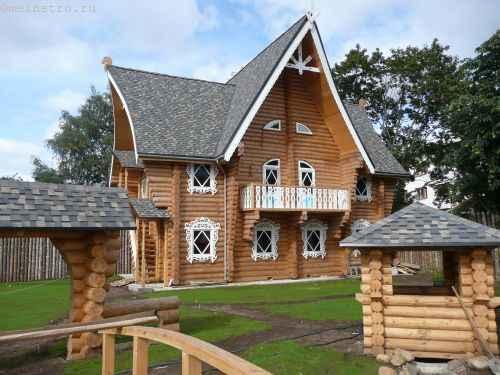 Деревянный дом в два этажа