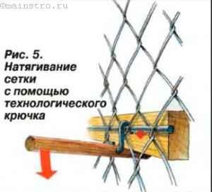 Натягивание стеки с помощью технологического крючка