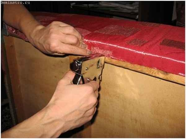 Перетяжка диванов с пружинным блоком своими руками