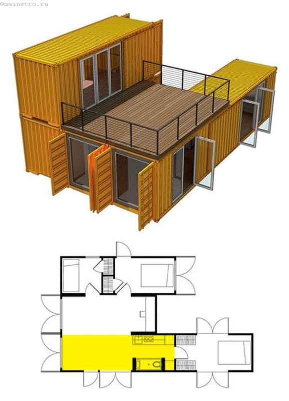 Дом из контейнера проекты