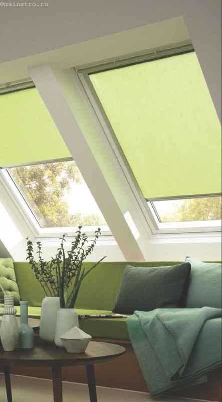 подъемные шторы для наклонных окон