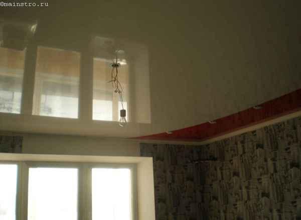 Спаянные комбинированные натяжные потолки из ПВХ