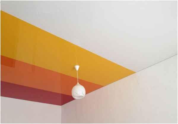 Криволинейные комбинированные натяжные потолки
