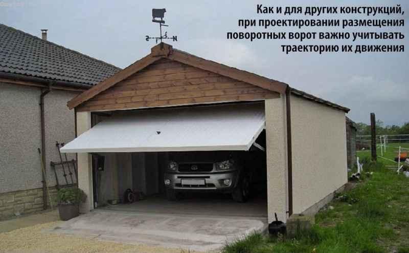 Поворотные гаражные ворота
