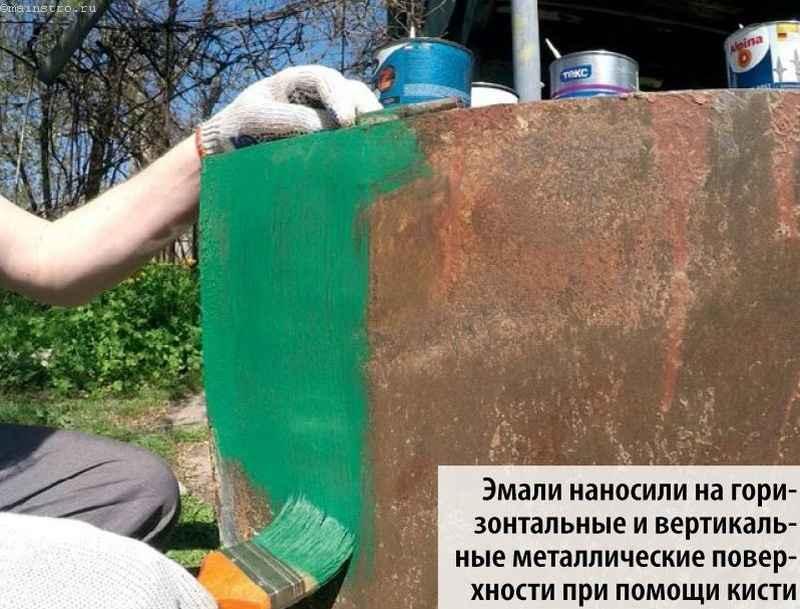 нанесение краски для защиты металла от коррозии