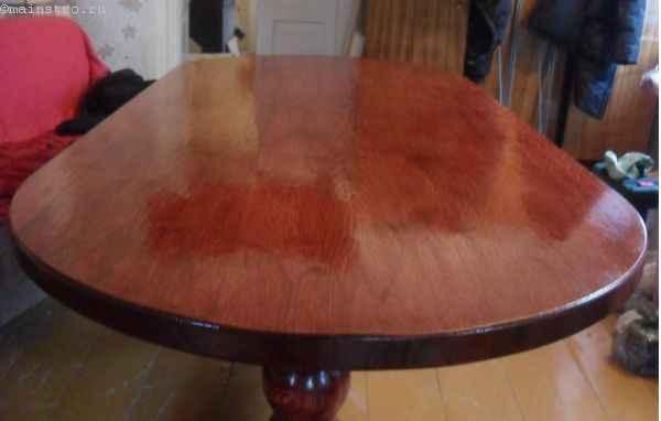 финишная обработка деталей кухонного стола
