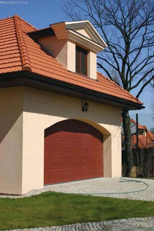 секционные гаражные ворота в нестандартном проеме