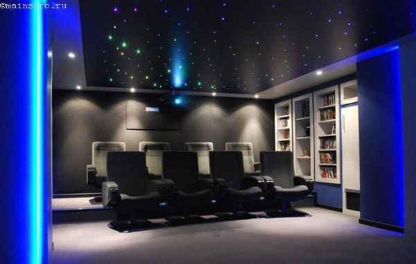 натяжной потолок с точечной светодиодной подсветкой
