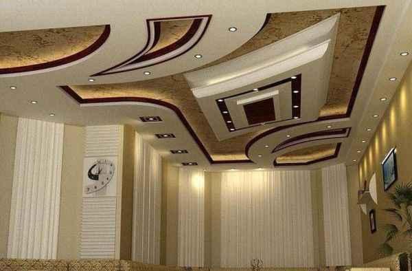 дизайн многоуровневого натяжного потолка