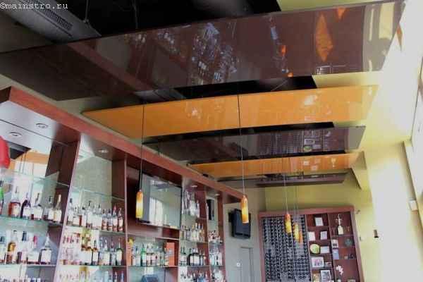дизайн натяжных потолков для кафе