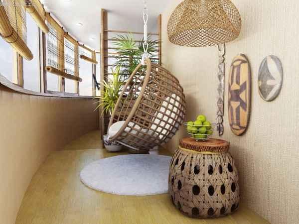Дизайн полукруглого балкона изнутри