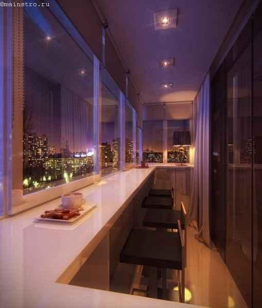 Вариант дизайна утепленного балкона