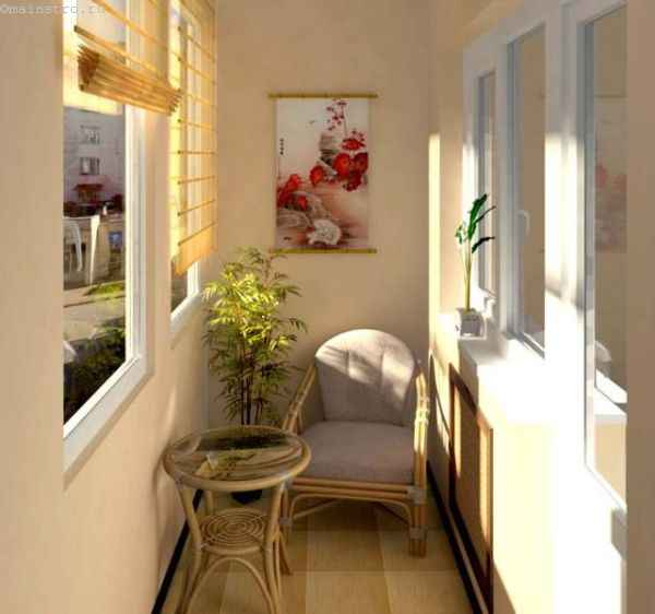 Отделка балкона - вариант дизайнерского решения
