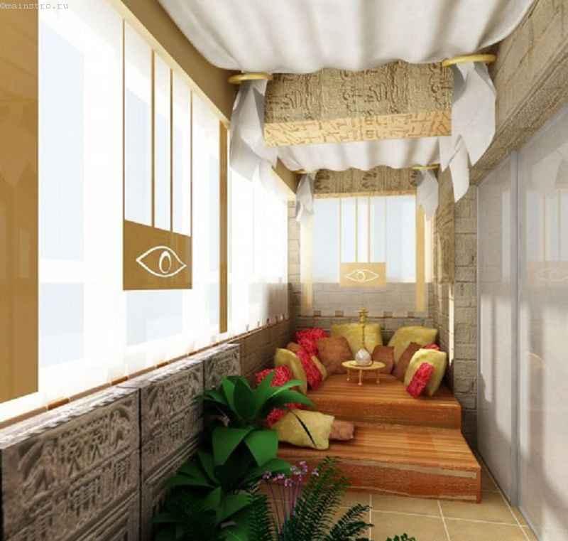 Дизайн балкона в восточном стиле