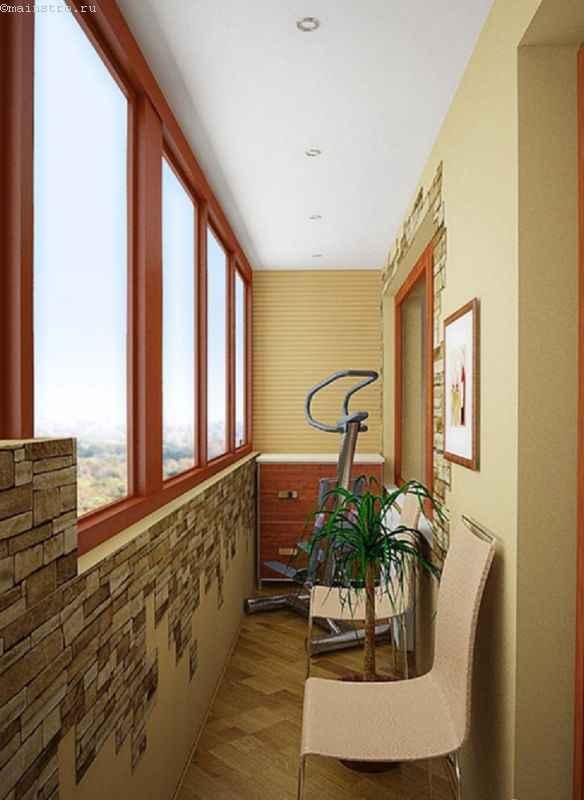 Проект балкона-тренажерного зала