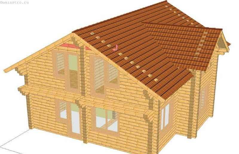 Проект дома с балконом без остекления