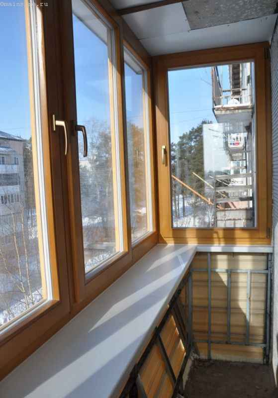 Балкон с выносом из Евродерева