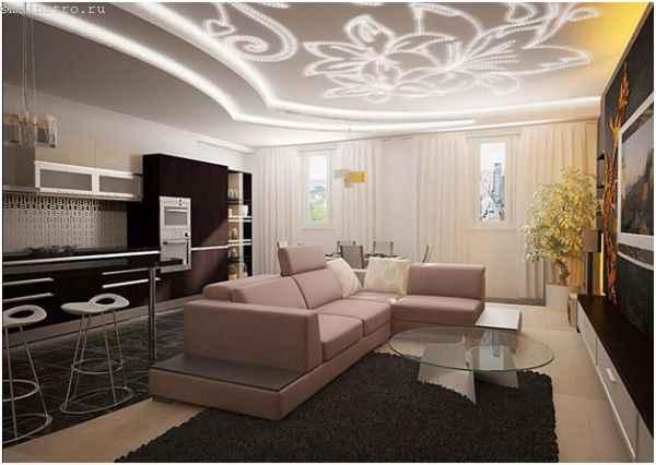 Парящие натяжные потолки со светодиодной подсветкой