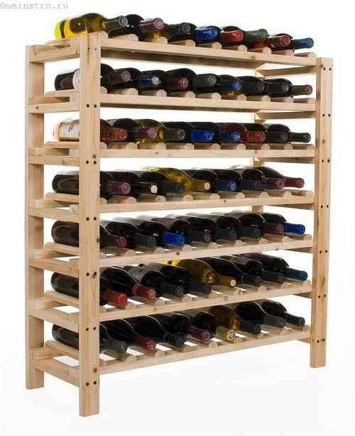 стеллажи для бутылок с вином