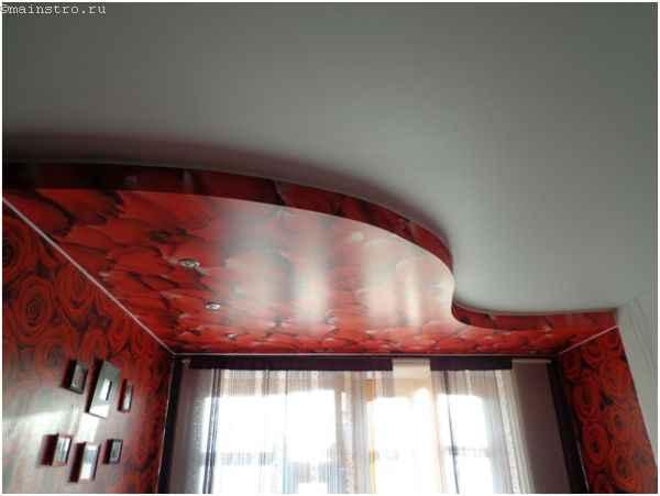 Плёночные экологические натяжные потолкив интерьере