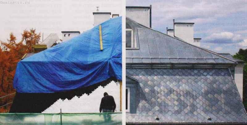 Капитальный ремонт скатной крыши: фото до и после
