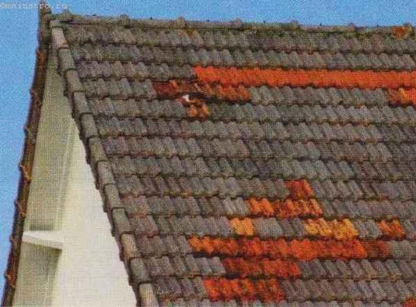 Ремонт скатной крыши из натуральной черепицы