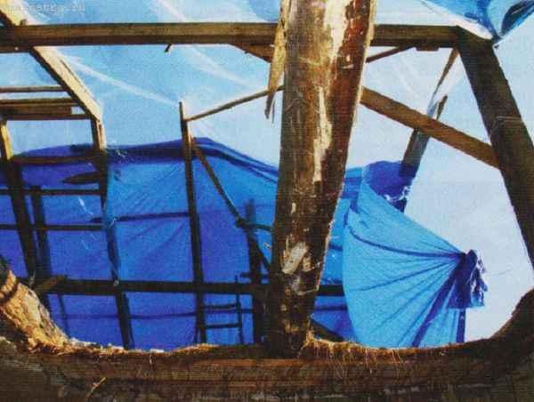 Ремонт скатной крыши после пожара
