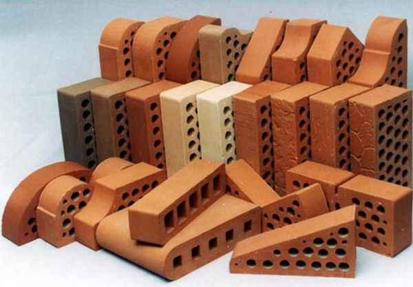 Фасадный клинкерный кирпич: фото материала разной формы
