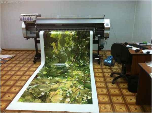 Изготовление натяжного потолка: на фото принтер для 3Д печати