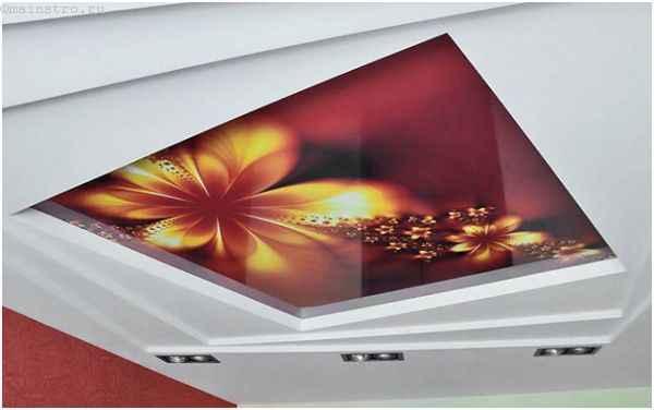 Оригинальны натяжной потолок 3Д