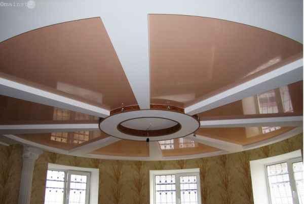 Комбинация натяжного и подвесного потолка