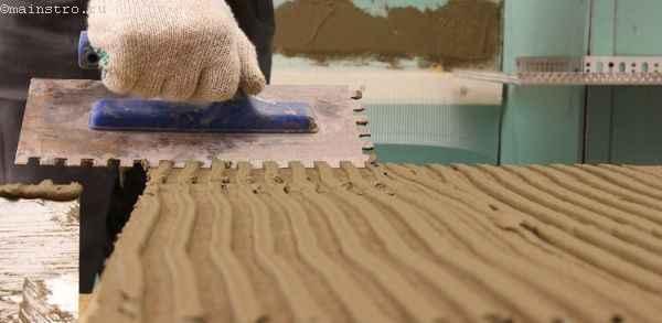 Укладка газобетона на клей