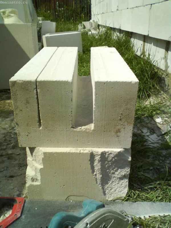 Изготовление U-блоков из газобетона