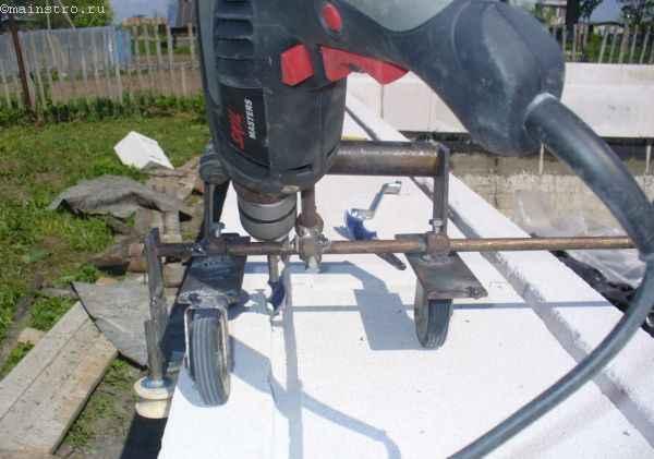 Штроборезка для изготовления U-блоков газобетона