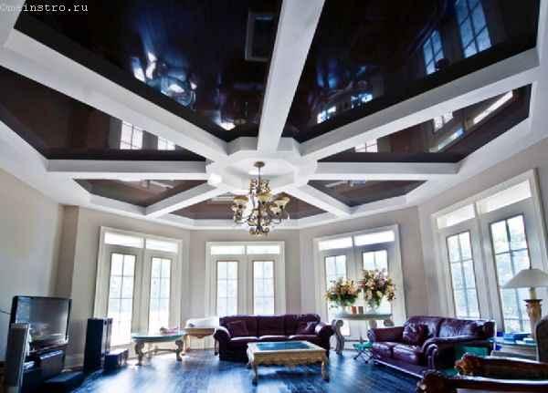 Натяжные потолки оригинальной формы