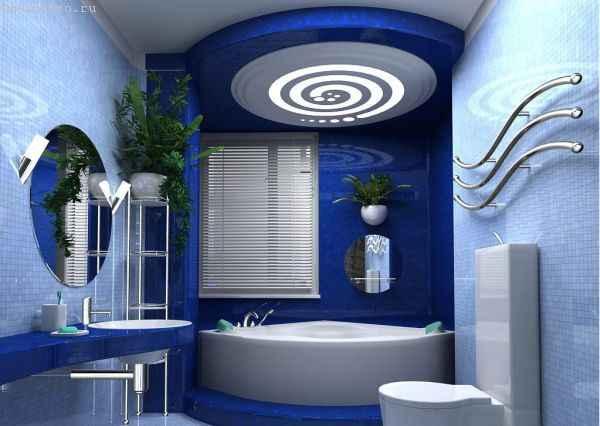 Матовые натяжные потолки в ванной