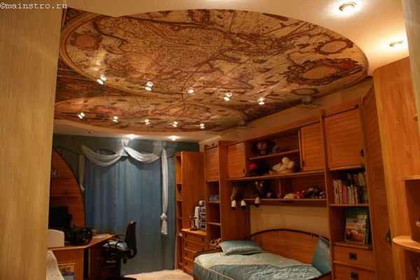 Матовые натяжные потолки с фотопечатью