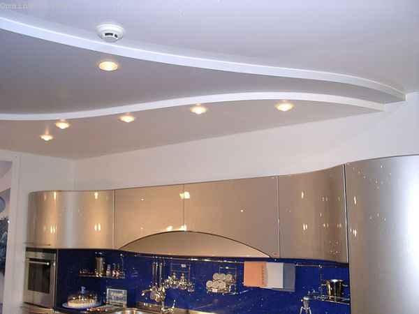 Двухуровневые матовые натяжные потолки