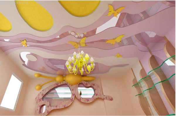 Матовые натяжные потолки со светильником