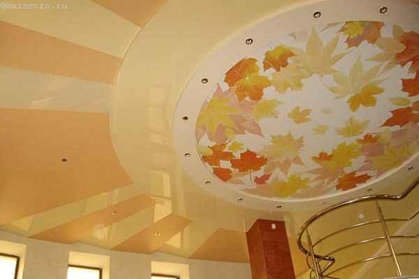 Матовые натяжные потолки с фотопечатью и глянцевые полотна