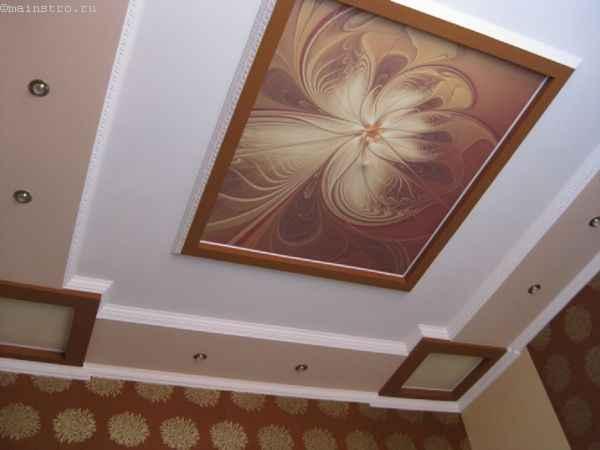 Матовые натяжные потолки с фотоизображением