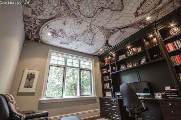 Матовые натяжные потолки в кабинете
