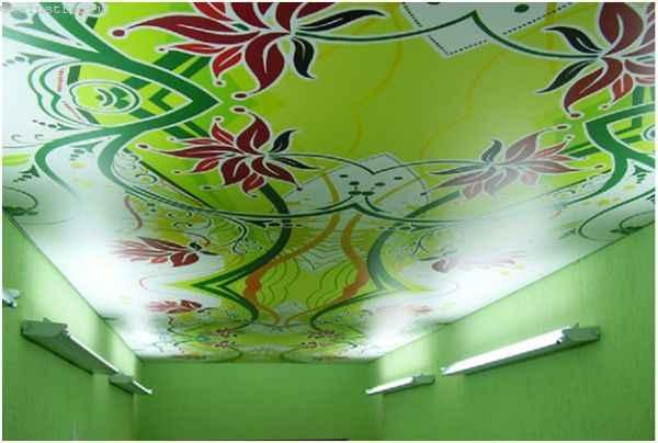 Натяжные потолки с фотопечатью гармонируют с помещением